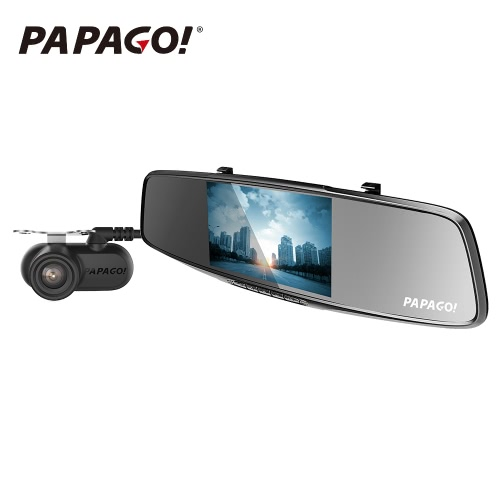 PAPAGO Gosafe 738 Dual Lens 1440P 5.0 inch Car DVR Sales Online - Tomtop