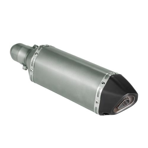 38-51mm Metallfarben Kleine Sechskant-Schwarz-Schräg-Schwanz-Wiedereinbau-Auspuff-Schalldämpfer mit Sitz