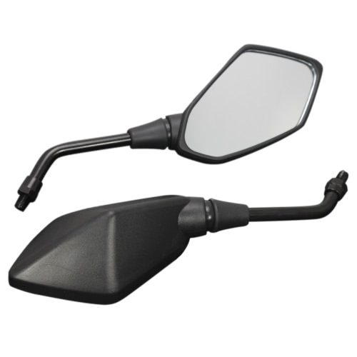 1 Pair Universal Motorcycle Scooter Aluminum Alloy Rearview Side Mirror Modified Accessories for 8mm 10mm Exterior Diameter Handle