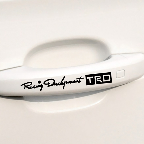 4pcs The Car-handles TRD Car Body Styling Sticker Removable Waterproof