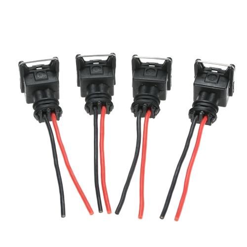 8pcs connettori iniettore carburante spine di cablaggio Fit EV1 OBD1 Pigtail Cut & Splice
