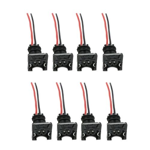 8 unids Conector de Inyector de Combustible Enchufes de Enchufes Clips Fit EV1 OBD1 Pigtail Cut & Splice