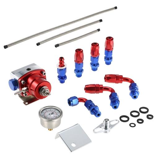 Regolabile universale 0-160PSI AN6 montaggio kit regolatore pressione carburante EFI con tubo flessibile di linea