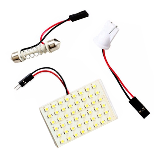 SMD 3528 LED Panel White Car Reading Map Lamp  Auto Dome Interior Bulb Roof Light with T10 Adapter