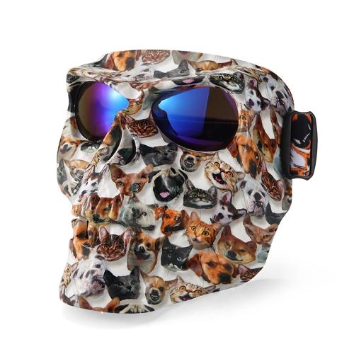 Moto Masque Casque Masque En Plein Air Équitation Motocross Crânes Coupe-Vent Vent Glasses Sandproof Lunettes Kinight Équipement