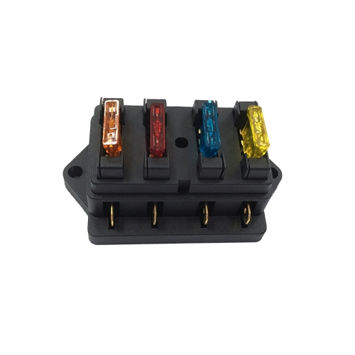 Way Fuse Holder Box Car Vehicle Automotive Circuit Blade Fuse Block com Fusíveis Padrão