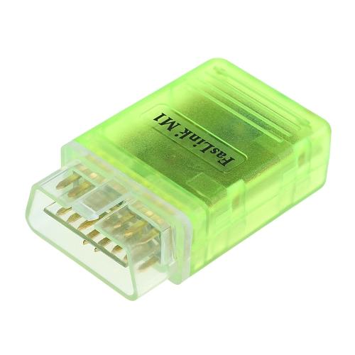 JDiag Faslink M1 Wi-Fi BT 4.0 Scanner de diagnóstico de carro OBDII Code Reader Código de falha Limpador Motor Light Ferramenta de verificação OBD para iPhone iPad Android com poderosas funções de aplicação Suporte 5 protocolos