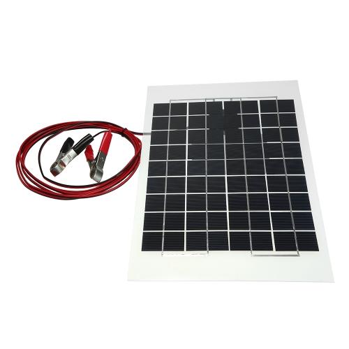 Painel solar transparente da resina de cola Epoxy do PolyCrystalline de 12V 10W 38 x de 22 cm com fio do grampo de jacaré