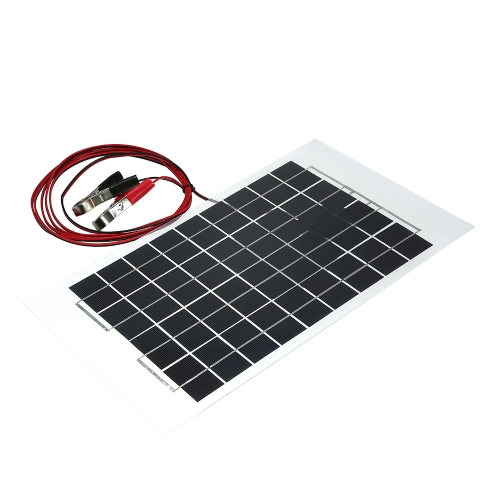 12V 10W 38 X 22 CM PolyCrystalline Transparent Epoxy Resin Solar Panel