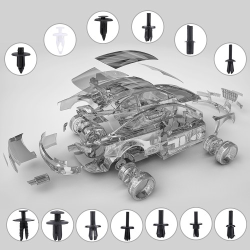350Pcs Assorted Car Body Kunststoff Push Retainer Pin Rivet Befestigungen Trim Moulding Clip Automotive Möbel Montage Expansion Schrauben Kit mit Removal Tool Schraubendreher für Viechles