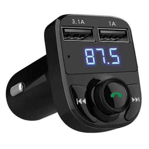 ذكي USB شاحن سيارة يدوي لاسلكي BT مشغل MP3 على متن شاشة LCD اف ام الارسال