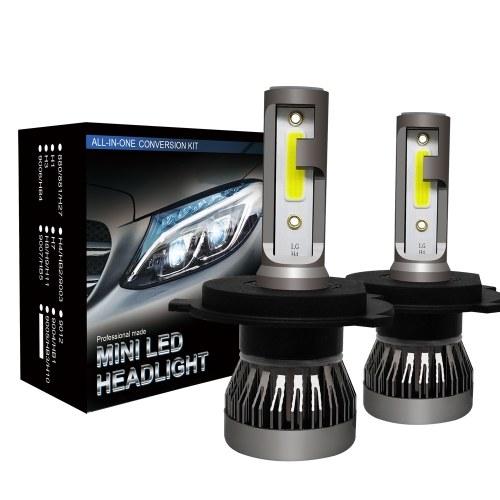 2Pcs Car H4 LED Headlight Bulbs Conversion Kit