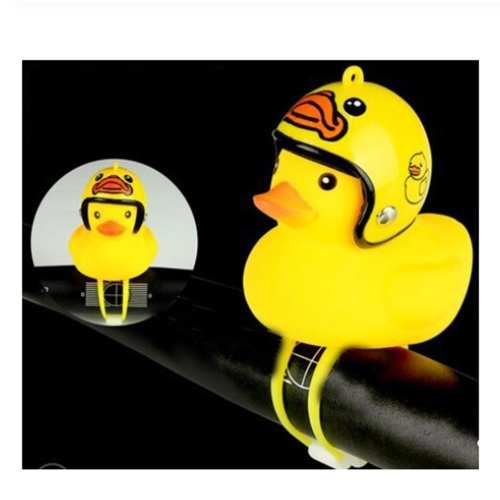 1 Pcs Cute Little Yellow Duck with Helmet LED Light for Bike Motorcycle
