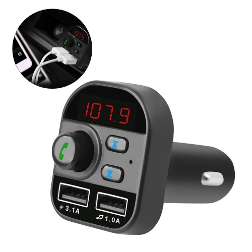 805E Автомобильный MP3-плеер Многофункциональный BT5.1 FM-передатчик Dual USB Зарядные устройства Поддержка TF-карта громкой связи U Диск Music Play