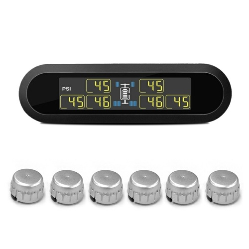T650-Wireless Solar Power TPMS Tire Pressure Monitoring System RV Truck with 6 External Sensors Display Pressure and Temperature