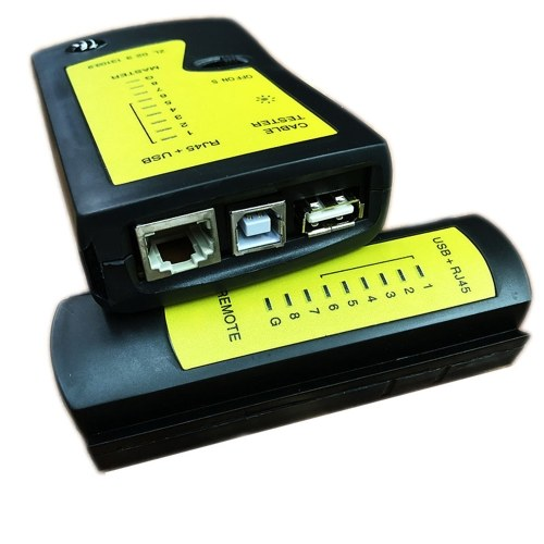 Probador de cable de red USB RJ45 profesional Detector de LAN de red Rastreador Herramienta de red