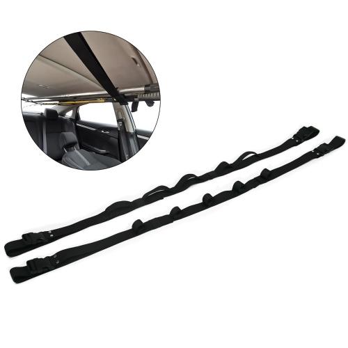Регулируемый бортовой держатель для удочки Автомобильный фиксированный ремень Ремни для удочки Портативная стойка для размещения удочки Встроенная стойка для автомобиля
