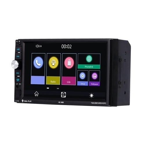7-дюймовый емкостный экран Интеллектуальный голосовой MP5-плеер Интеллектуальное соединение MP5-плеер с обратным приоритетом