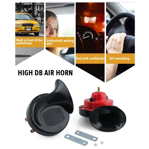 1 pair 12V 110DB Snail Horn Fitting Dual Tone Horn Of Automobile And Motorcycle Small Snail Horn Electric Car Horn Waterproof Motorcycle Horn