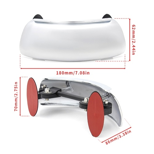 Universal Motorcycle Rearview Mirror Wide-Angle Mirror Wide Field Reflector 180 Degree Full Views No Blind Area Reversing Mirror Safetys Auxiliary Rear Views Mirror