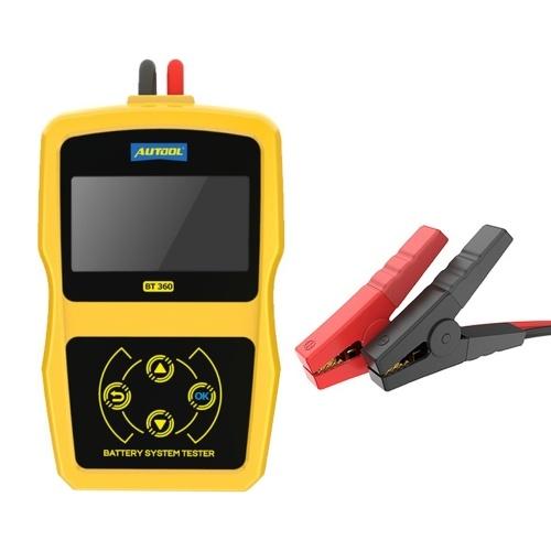 12-Voltage Car Battery Diagnostic Tester BT360 Automotive Battery Tester Car Battery Analyzer Vehicle Analyzer
