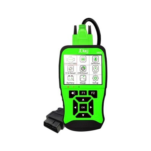 JDiagV600 Универсальный сканер OBDII / EOBD VAG SCANNER автомобильный диагностический сканер инструмент для чтения неисправностей двигателя автомобиля инструмент для стирания / сброса кодов