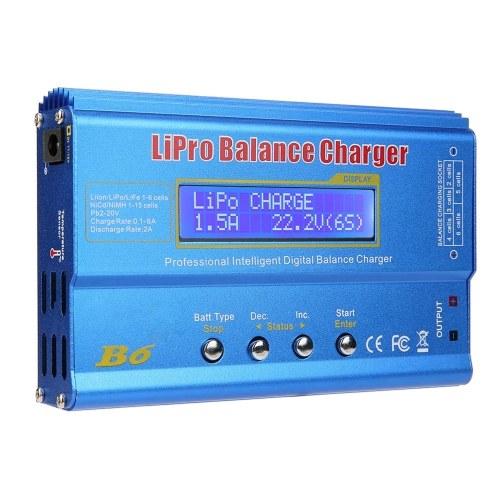 Scaricatore caricatore bilanciamento batteria Lipo 80W 6A per LiPo-Li-ion , Li-Fe , Batteria LiHV (1-6S), NiMH , NiCd (1-15S), Caricatore bilanciamento batteria Rc Hobby