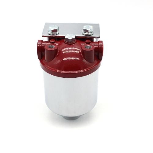Filtro de combustible grande Acabado cromado Salida de entrada NPT de 3/8 pulg. De 10 micrones