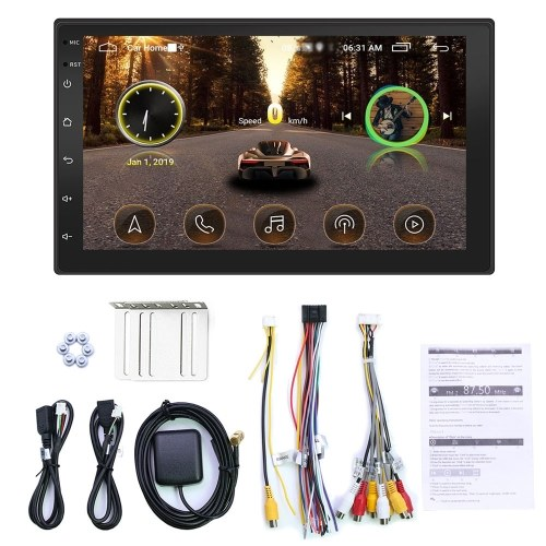 7 Inch HD Car MP5 Player Double Din 2 Din Car Stereo BT WiFi Touchscreen Monitor FM Car Radio with GPS Navigation