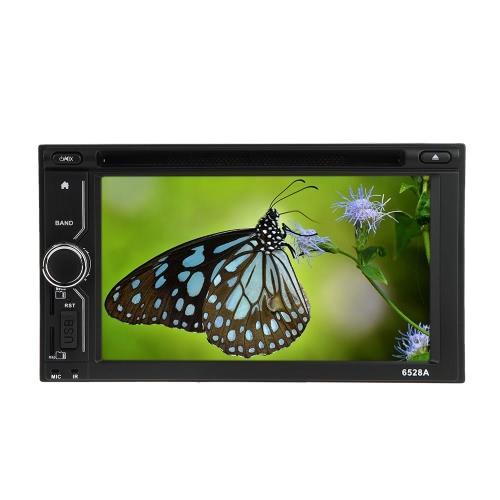 """6.2 """"Universal 2 Din HD Samochodowy odtwarzacz DVD / USB / SD Duży interfejs nawigacji GPS Multimedia BT Radio Entertainment"""