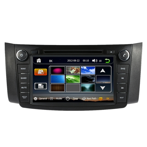 8 Inch HD Digital Touch Screen Car Multimedia DVD Player GPS Navigation in Dash 2 Din Double Car Radio Bluetooth PC Stereo Head Unit for Nissan Sylphy 2013 +Free Card with Map