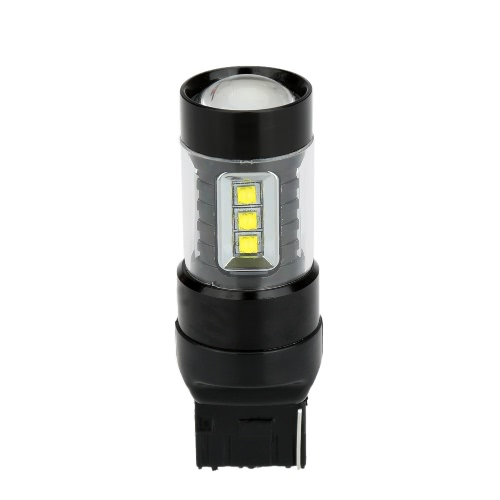 80W 16-SMD LED Car Backup Reversing Light Turn Signal Tail Lamp Bulb Replacement for T20 Socket White