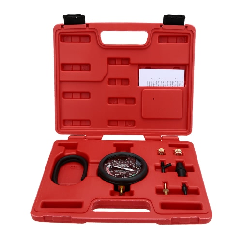 Pompe à vide & carburant testeur manomètre Test Tool Kit carburateur soupape