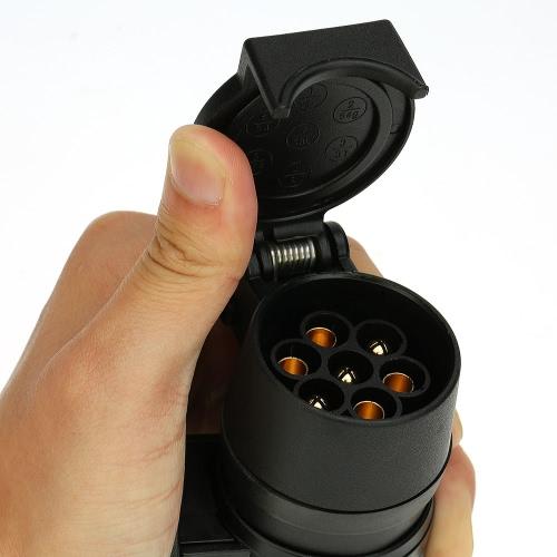 13 à 7 broches remorque adaptateur givré pour remorque câblage connecteur 12V attelage remorquage Type Plug N
