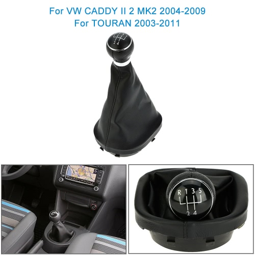 5 Speed Gear Shift Knob Gearstick Gaiter Boot Replacement Kit for VW CADDY II 2 MK2 2004-2009 TOURAN 2003-2011