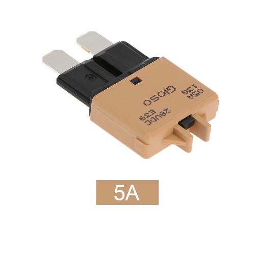 IZTOSS réarmement manuel Disjoncteur Fusibles avec le bouton 5A pour Camion Auto Moto