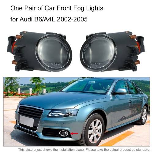 One Pair of Car Front Fog Lights LED Lamp for Audi B6/A4L 2002-2005