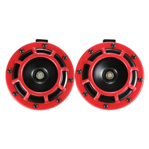 """5 """"Czerwony Super Głośny Kompaktowy Elektryczny Blast Tone Horn dla Motocykla Chopper 12V samochód"""