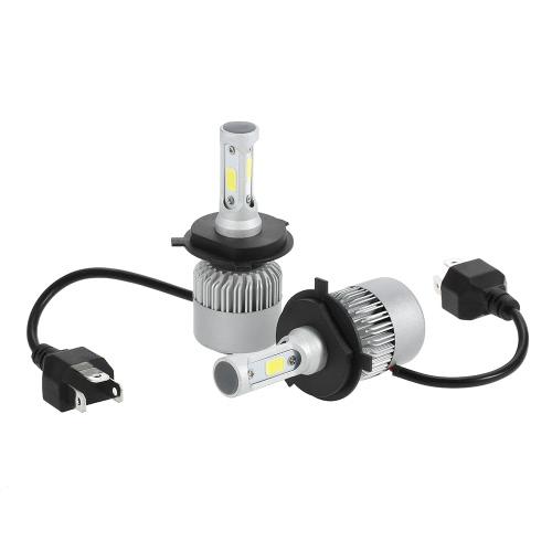 Une paire de H4 30W LED voiture phare lampe ampoule 3000LM 6000K