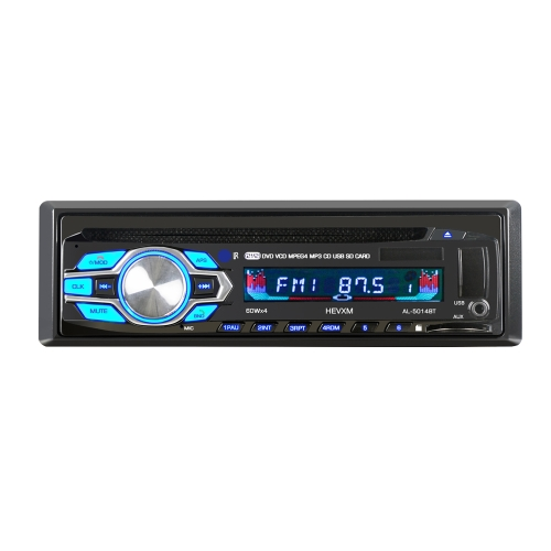 Single Din 12V Car DVD Player de CD Veiculo MP3 Stereo Car Handfree Autoradio BT Audio Radio 5014 Car-styling Wireless Remote Control