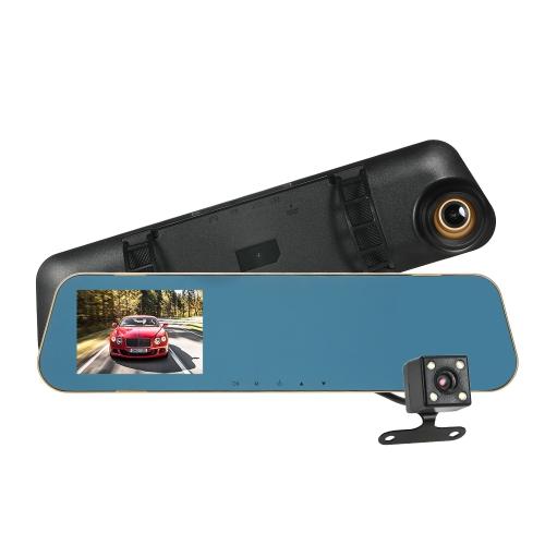 KKmoon 4 '' 1080P voiture double objectif DVR