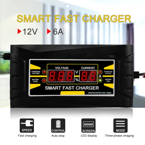 Full Automatic Car Battery Charger EU Plug
