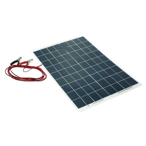 Cargador de batería semi flexible del dispositivo del panel solar de 30W 12V