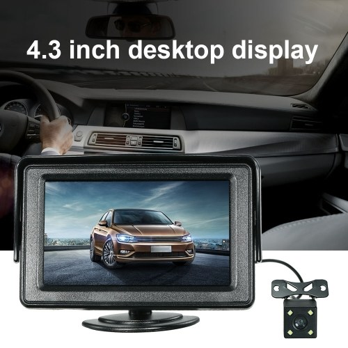 4.3 Inch TFT Color Display Car LCD Monitor Dashboard Screen Parking Monitor with Rearview Camera