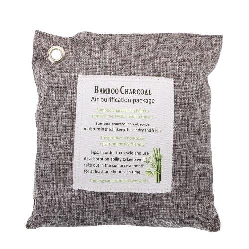 Air Purifying Bag 500-Grams Natural Odor Bamboo Charcoal Eliminator