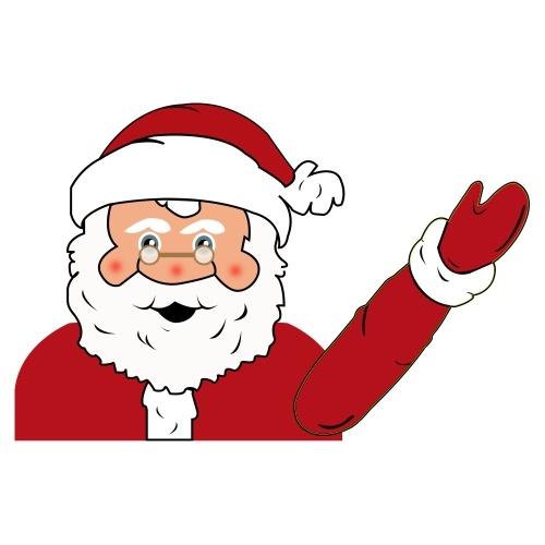 Naklejka świąteczna Świętego Mikołaja
