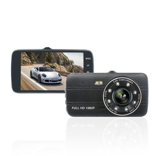 Appareil-photo automatique de double objectif de voiture DVR 1080P d'écran de 4,0 pouces IPS