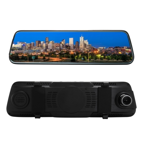 Touched Screen 1080P Car DVR Stream Rearview Mirror Auto Dash Camera