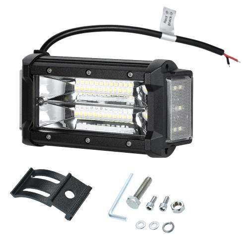 "40W 5 ""LED Vainas Luces Tirador lateral Combo Haz Luces antiniebla Luces antiniebla Luz de trabajo para camiones UTV SUV ATV Car Cars Marine"