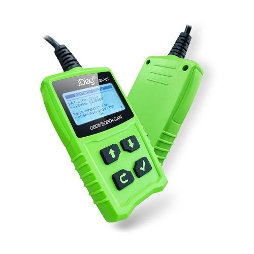 Lettori di codici universali JDiag JD101 Controllo dello strumento di scansione del motore Strumento di diagnostica dell'automobile Strumento di diagnostica OBDII Scanner con test della batteria per tutti i veicoli Auto Auto dopo il 1996